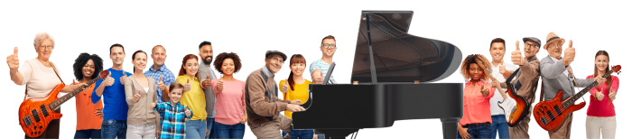 GROUPE HAPPY PEOPLE PIANOSHORT ALM SMALL