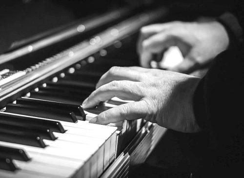 Piano B&W Hands